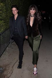 Taylor Hill and her boyfriend are seen leaving the WME Oscar party 2020