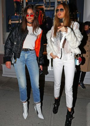 Taylor Hill and Romee Strijd - Leaving the Ralph Lauren Show in NY
