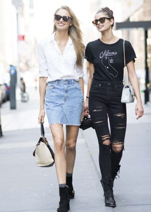 Taylor Hill and Romee Strijd out in Manhattan
