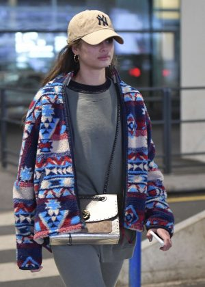 Taylor Hill – Arrives at Charles de Gaulle Airport in Paris