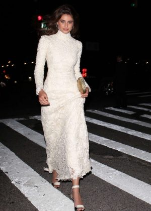 Taylor Hill - Arriving at Ralph Lauren 50th Anniversary Party in NY