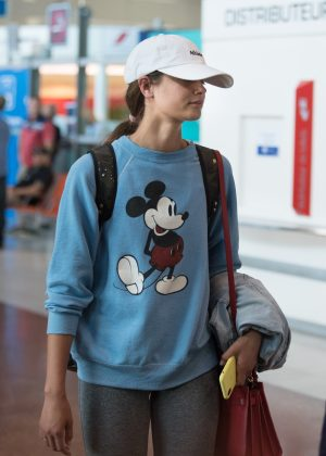 Taylor Hill at Charles de Gaulle airport in Paris