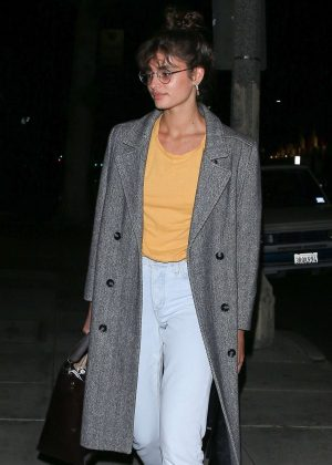 Taylor Hill at Matsuhisa in Beverly Hills