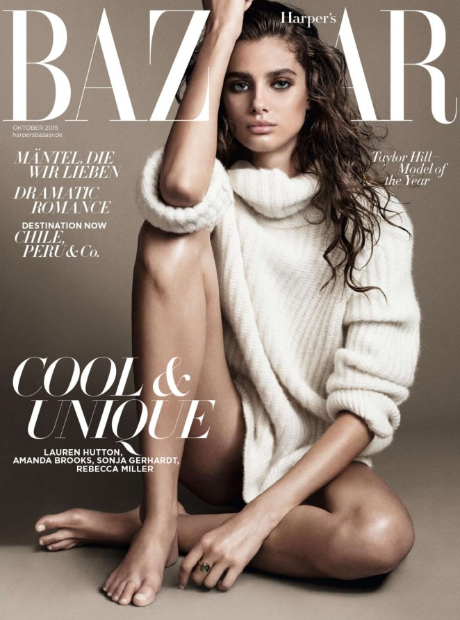 Taylor Hill - Harper's Bazaar Germany Cover (October 2015)