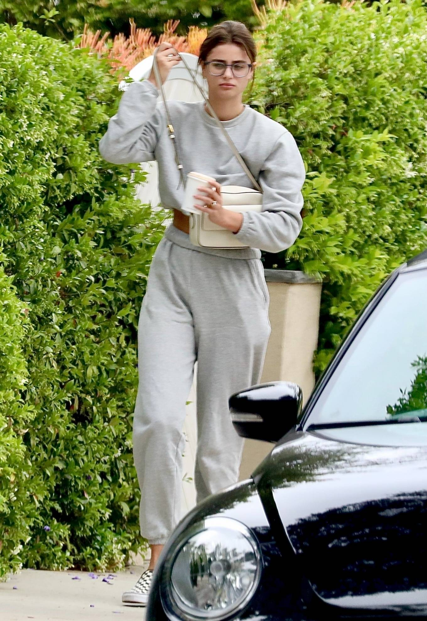 Taylor Hill 2021 : Taylor Hill – in grey sweats as she steps out for some coffee in West Hollywood-02