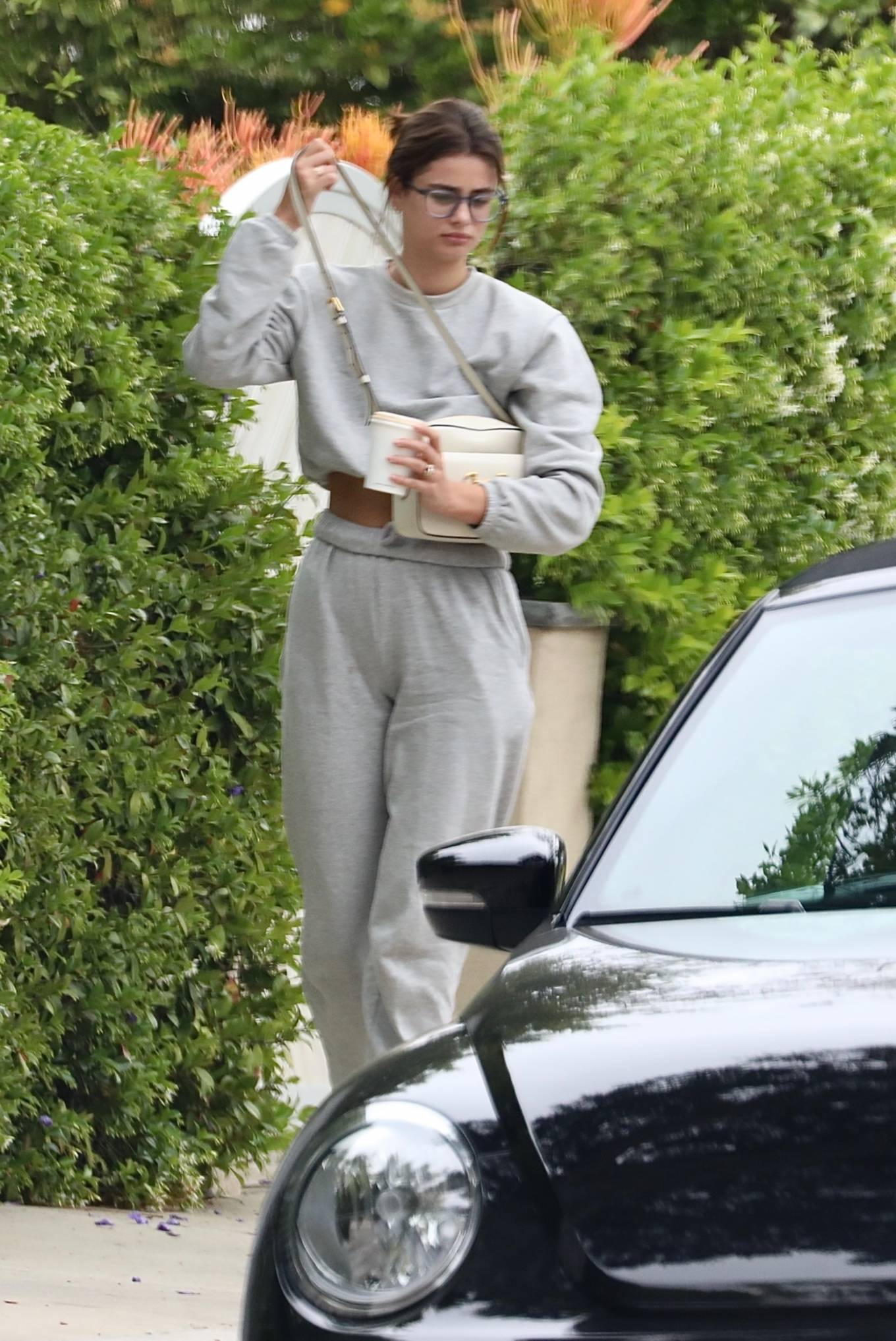 Taylor Hill 2021 : Taylor Hill – in grey sweats as she steps out for some coffee in West Hollywood-09