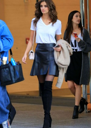 Taylor Hill in Mini Skirt Out in New York