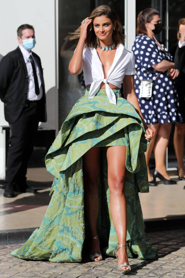 Taylor Hill - Leaving Hotel Martinez during Cannes Film Festival 2021