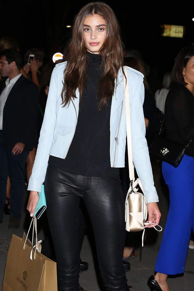 Taylor Hill - Leaving Versace SS 2016 Show in Milan