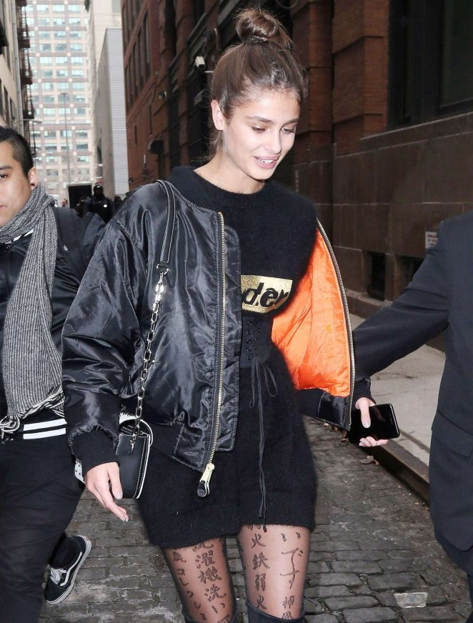 Taylor Hill out and about in New York City