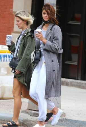 Taylor Hill - Out for a walk with a friend in Tribeca - New York