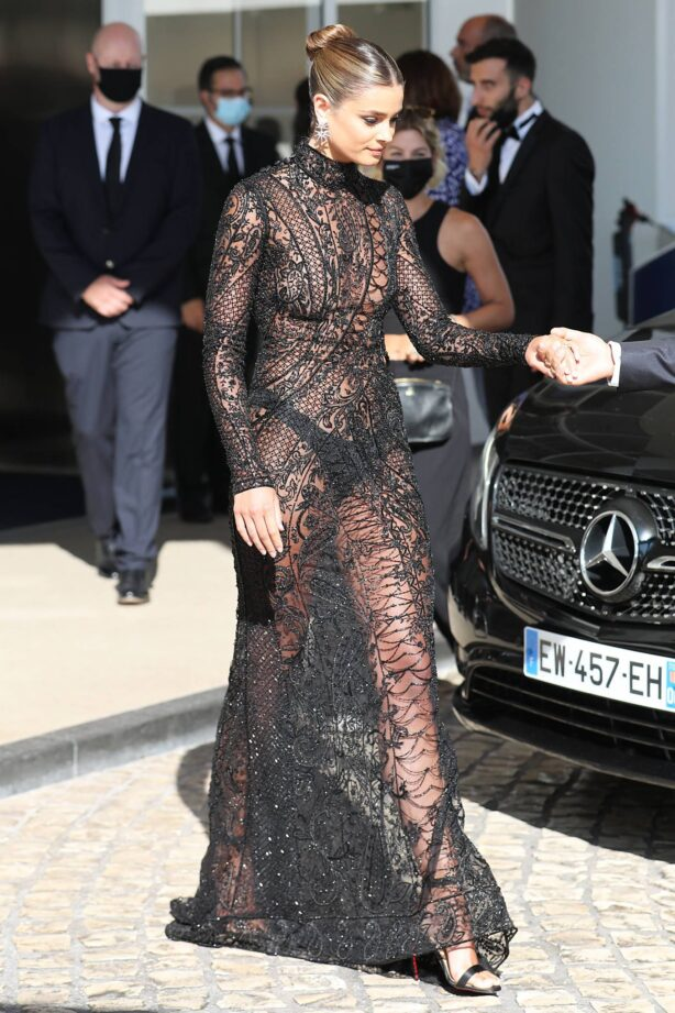 Taylor Hill - seen at hotel Martinez during Cannes Film Festival 2021