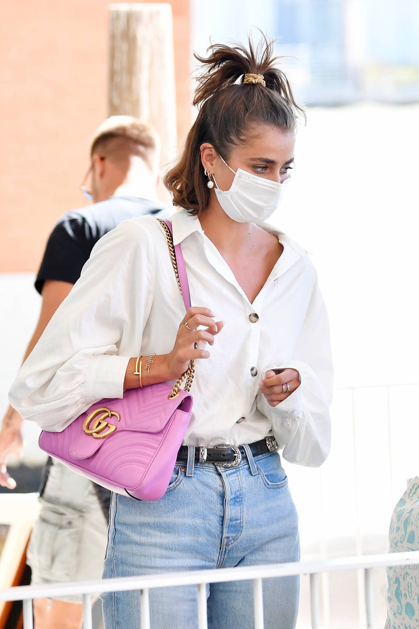Taylor Hill 2020 : Taylor Hill – Spotted arriving at the airport during the 75th Venice Film Festival in Venice-03