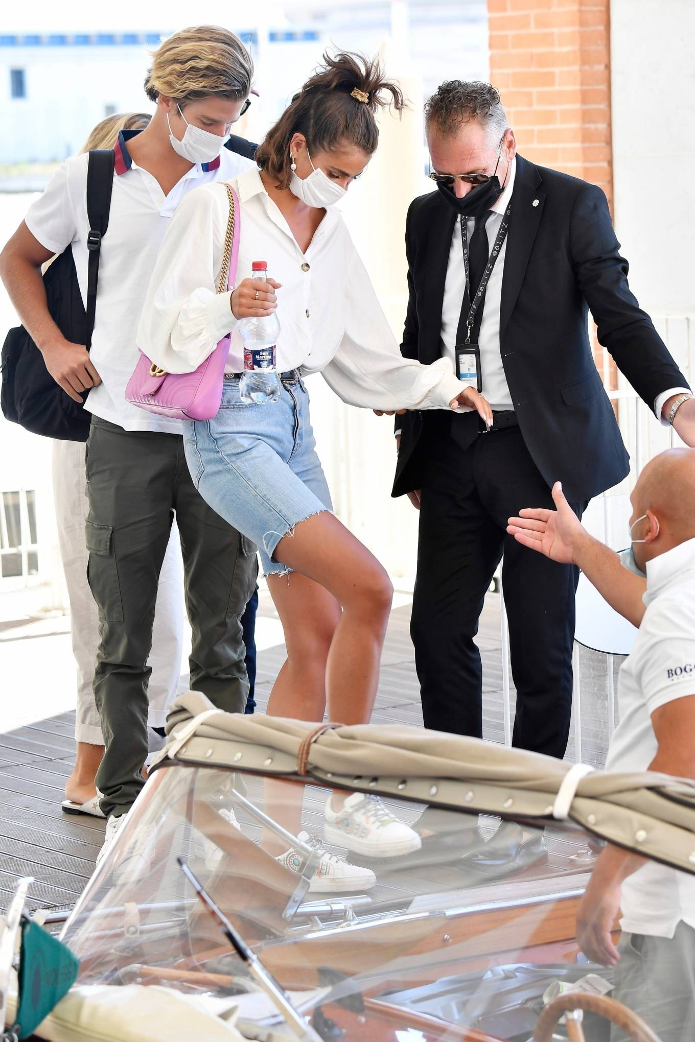 Taylor Hill 2020 : Taylor Hill – Spotted arriving at the airport during the 75th Venice Film Festival in Venice-05