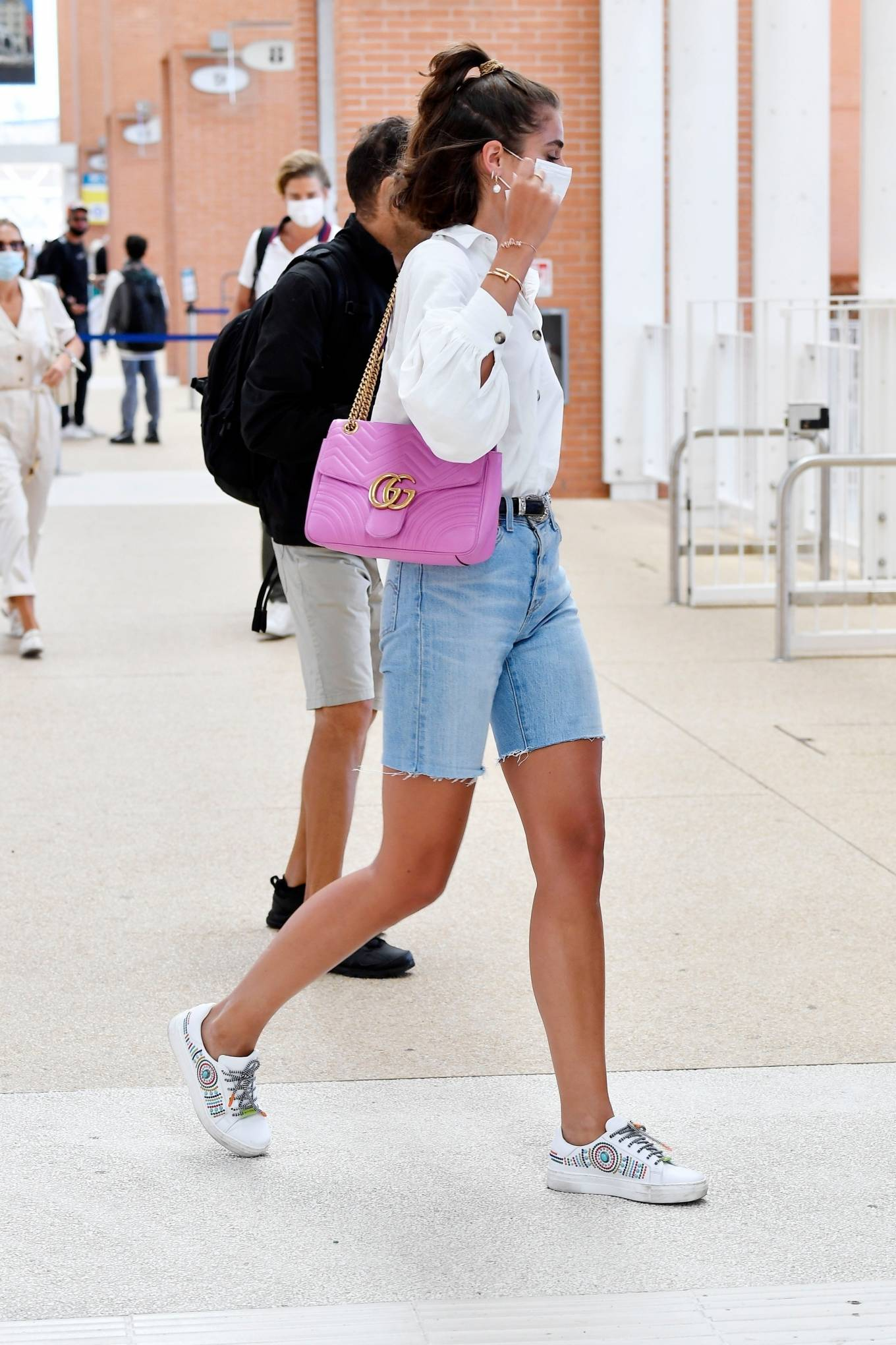 Taylor Hill 2020 : Taylor Hill – Spotted arriving at the airport during the 75th Venice Film Festival in Venice-14