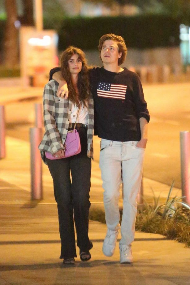 Taylor Hill walk with her boyfriend in West Hollywood