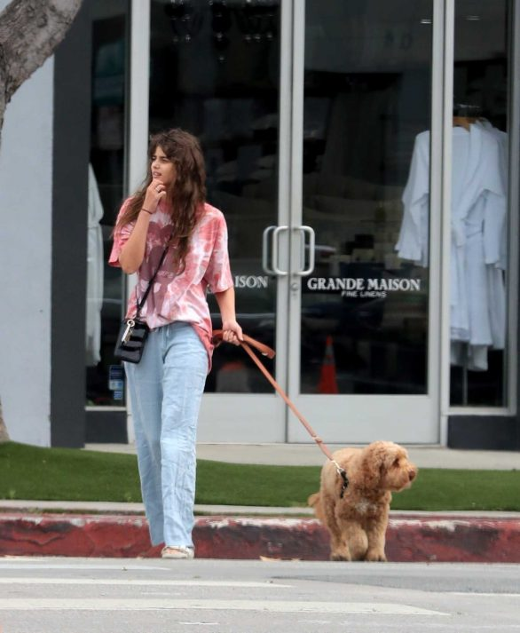 Taylor Hill - Walking her dog in West Hollywood