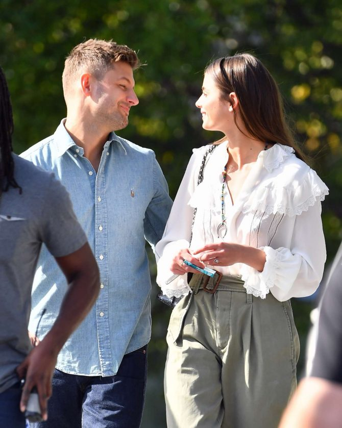 Taylor Hill with Michael Stephen Shank out in Los Angeles -06