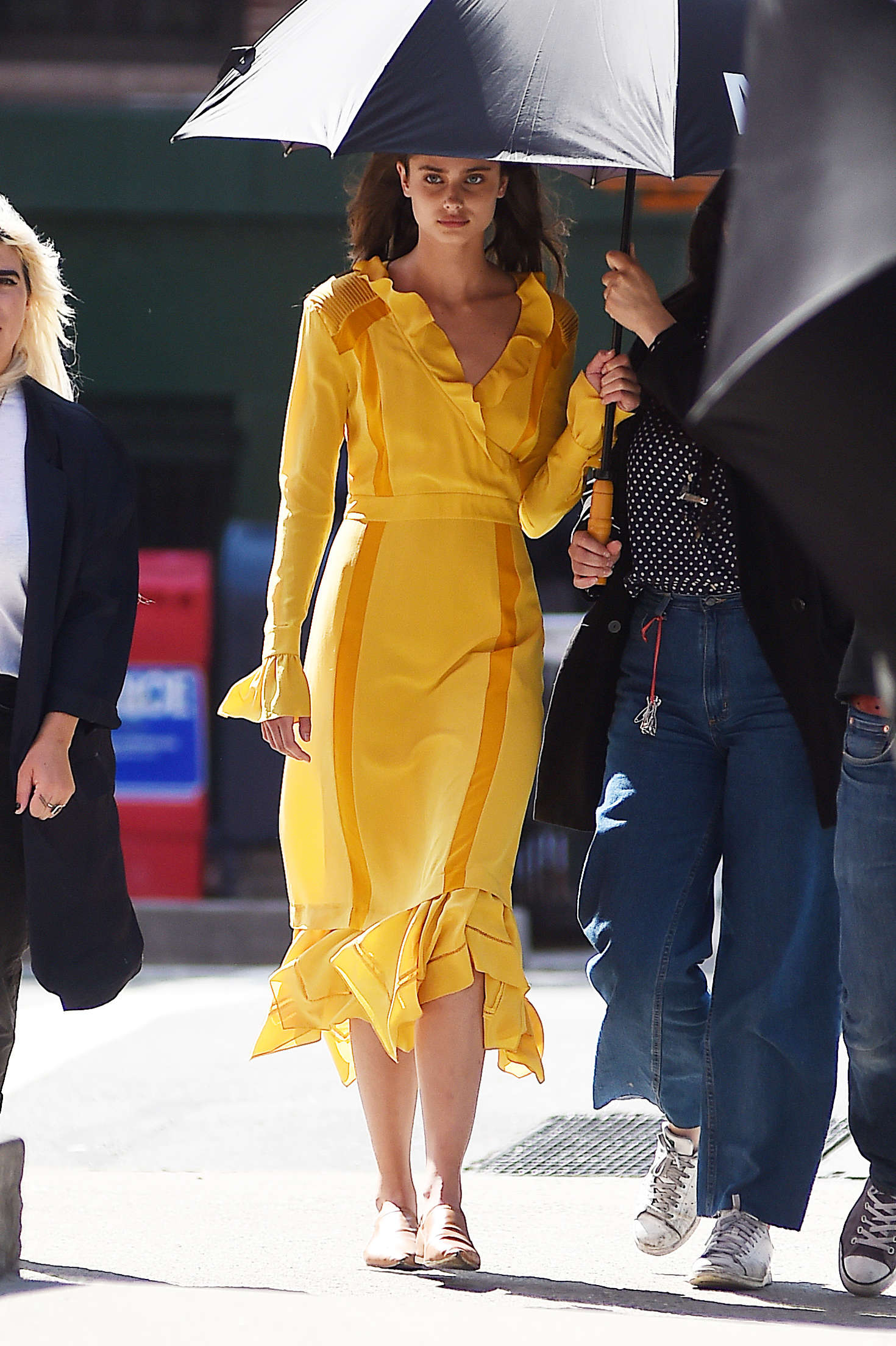 Taylor Marie Hill in Yellow Dress on Photoshoot -22 - GotCeleb