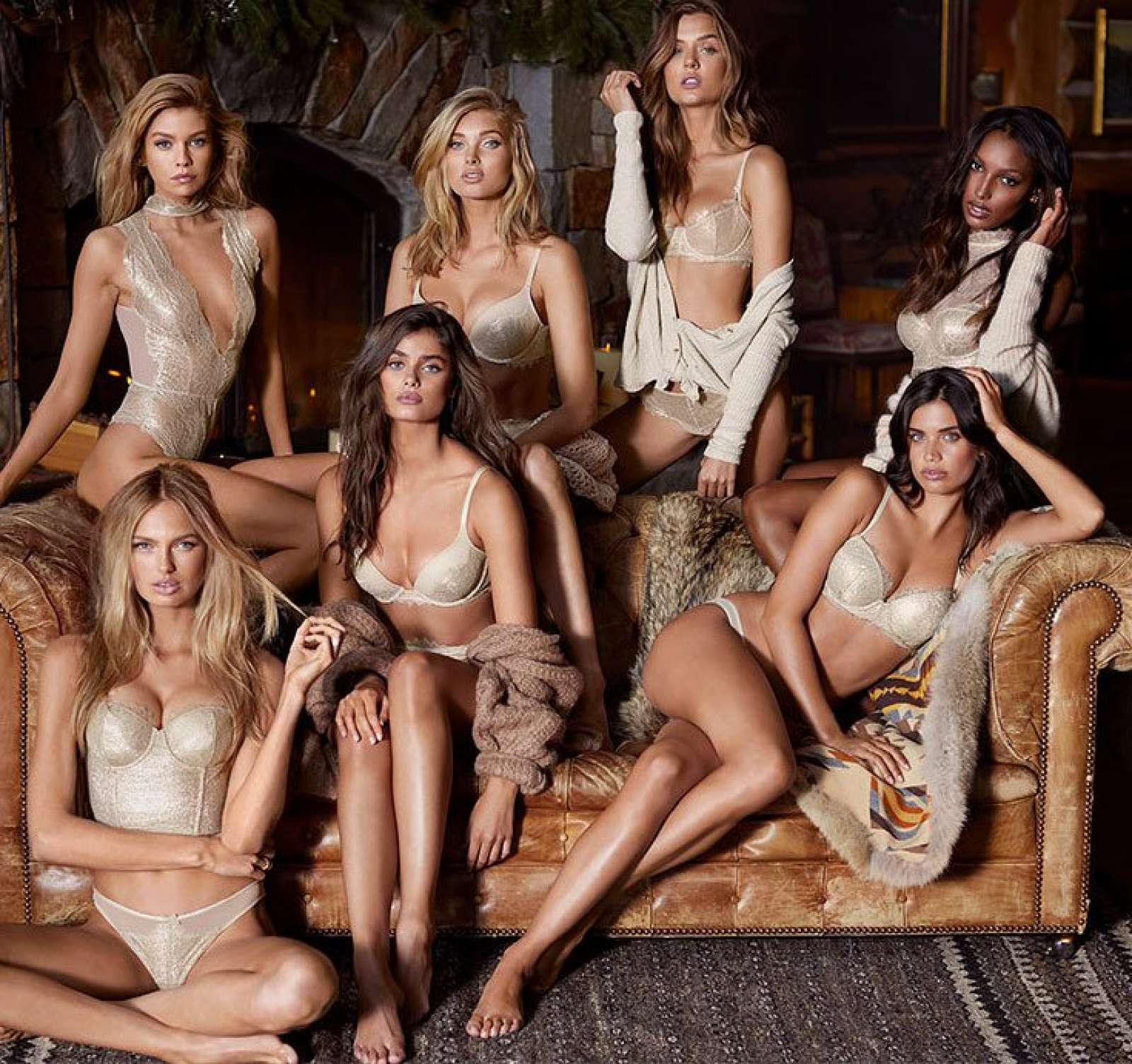 Taylor, Sara, Jasmine, Stella, Elsa, Romee and Josephine – Collection VS Dream Angels Holiday Collection 2017