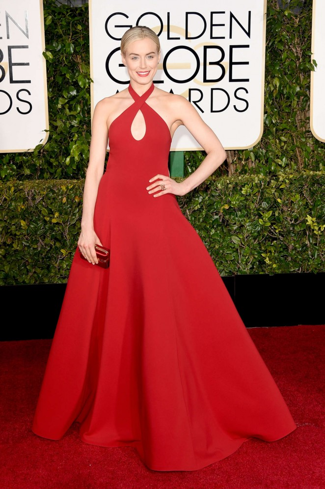 Taylor Schilling – 72nd Annual Golden Globe Awards in Beverly Hills