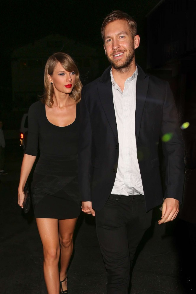 Taylor Swift and Calvin Harris at Gjelina Restaurant in Venice