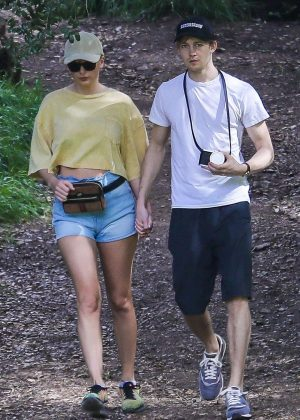 Taylor Swift and Joe Alwyn at the Franklin Canyon Park Trail in Santa Monica