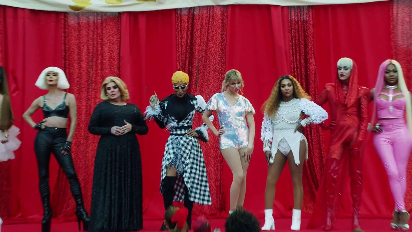 Katy Perry 2019 : Taylor Swift and Katy Perry in Taylors latest music video You Need to Calm Down-01