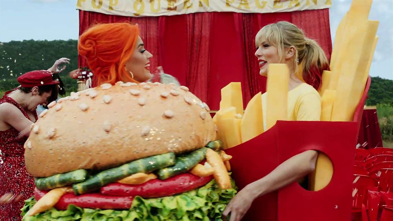 Taylor Swift and Katy Perry in Taylors latest music video You Need to Calm Down-22
