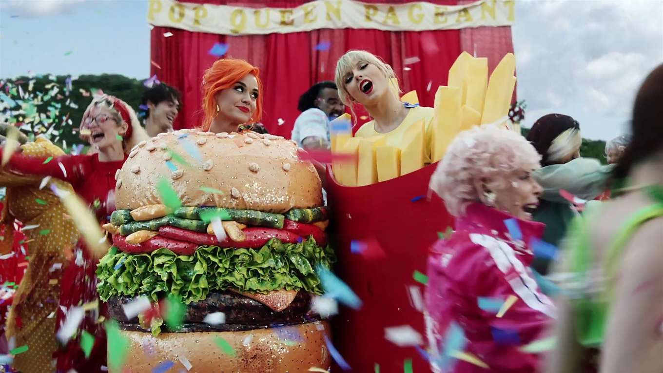 Katy Perry 2019 : Taylor Swift and Katy Perry in Taylors latest music video You Need to Calm Down-33
