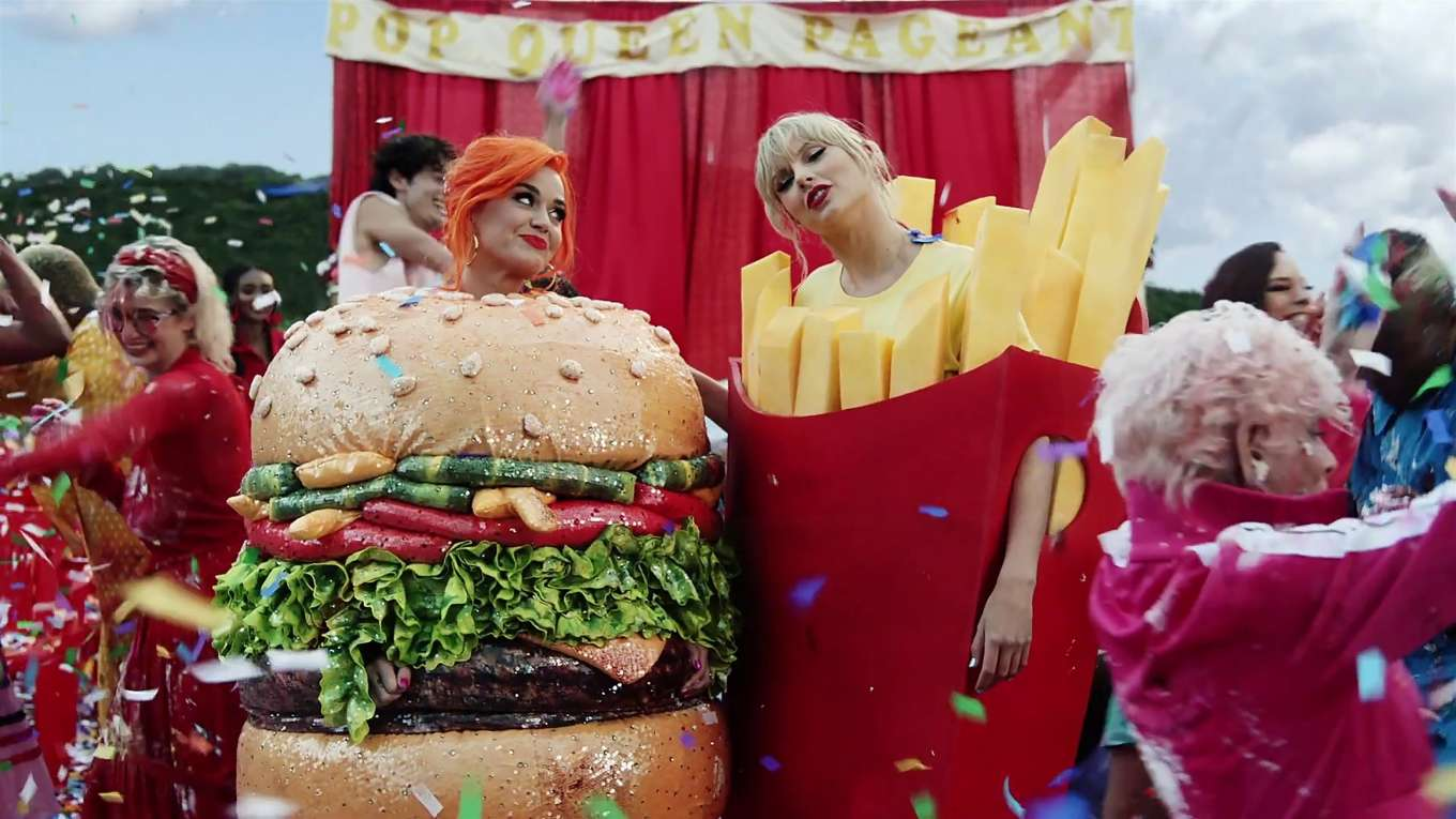 Katy Perry 2019 : Taylor Swift and Katy Perry in Taylors latest music video You Need to Calm Down-35