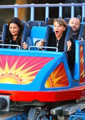 Taylor Swift and Lily Aldridge at Disneyland in Anaheim