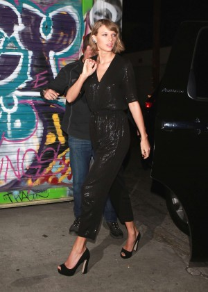 Taylor Swift - Arrives at Lady Gaga's Birthday Party in Hollywood