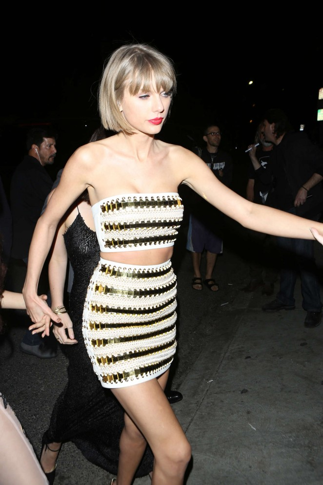 Taylor Swift - Arriving at Hyde night club in West Hollywood