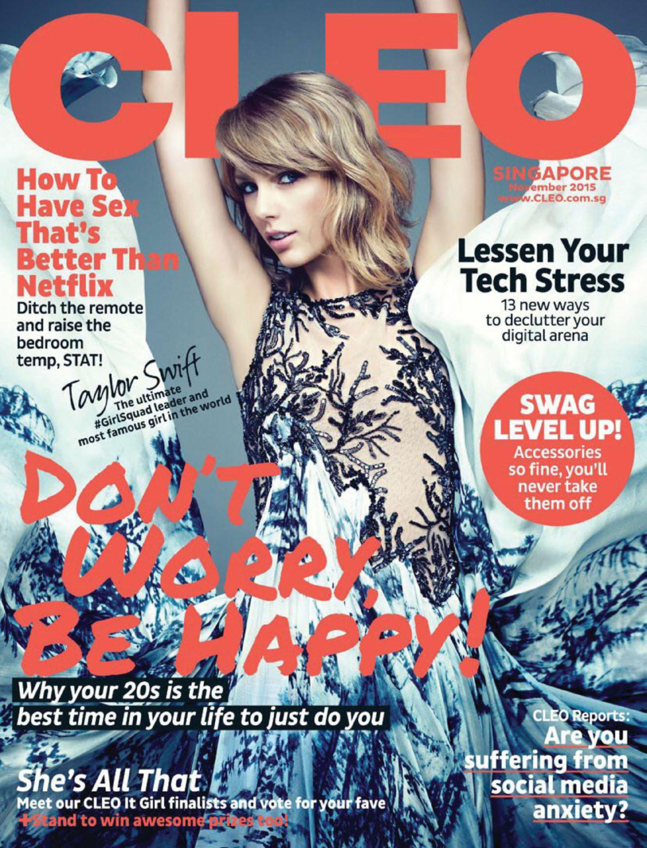 Taylor Swift - Cleo Magazine Cover (November 2015)