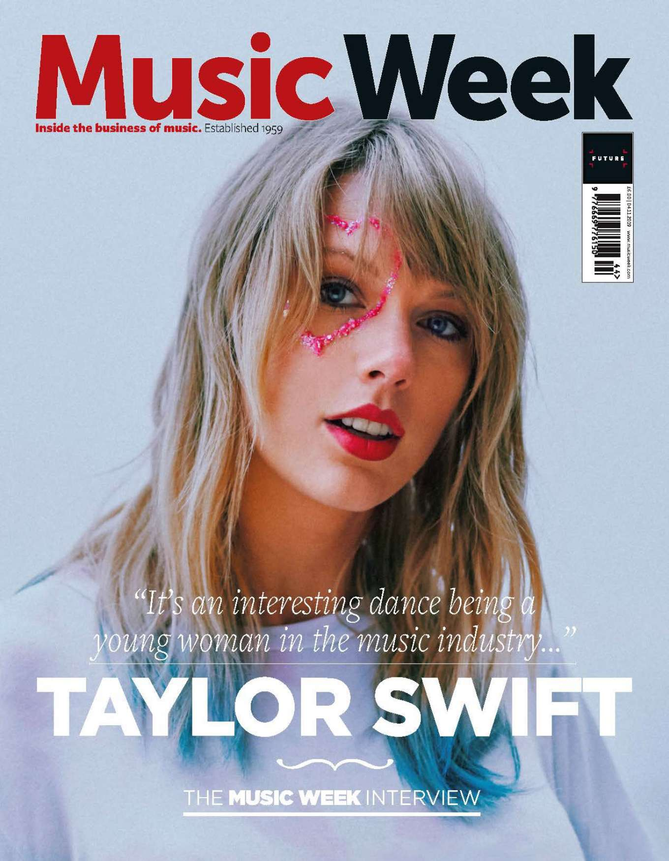 Taylor Swift for Music Week Cover (November 2019)