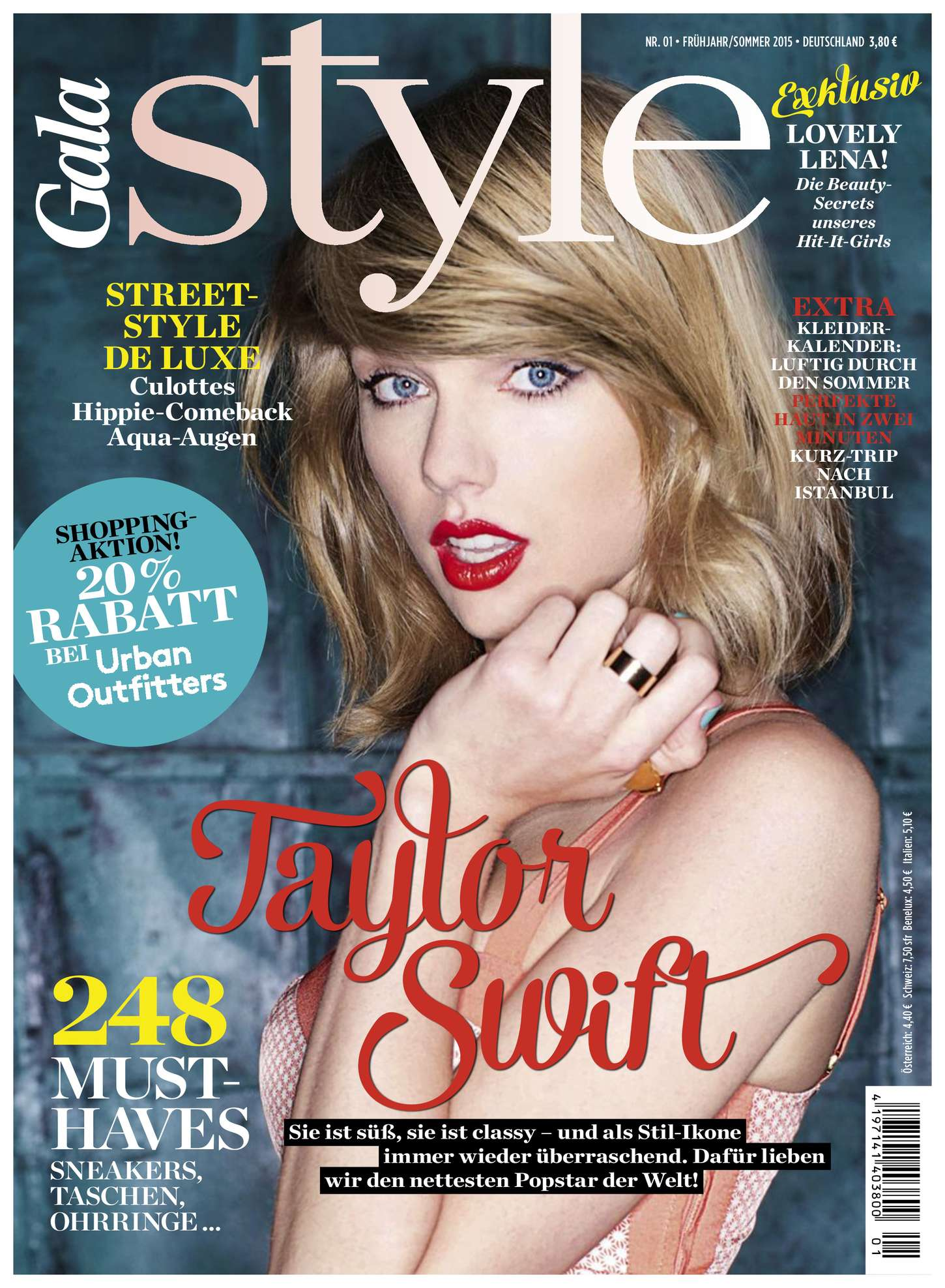 taylor swift gala style magazine summer 2015