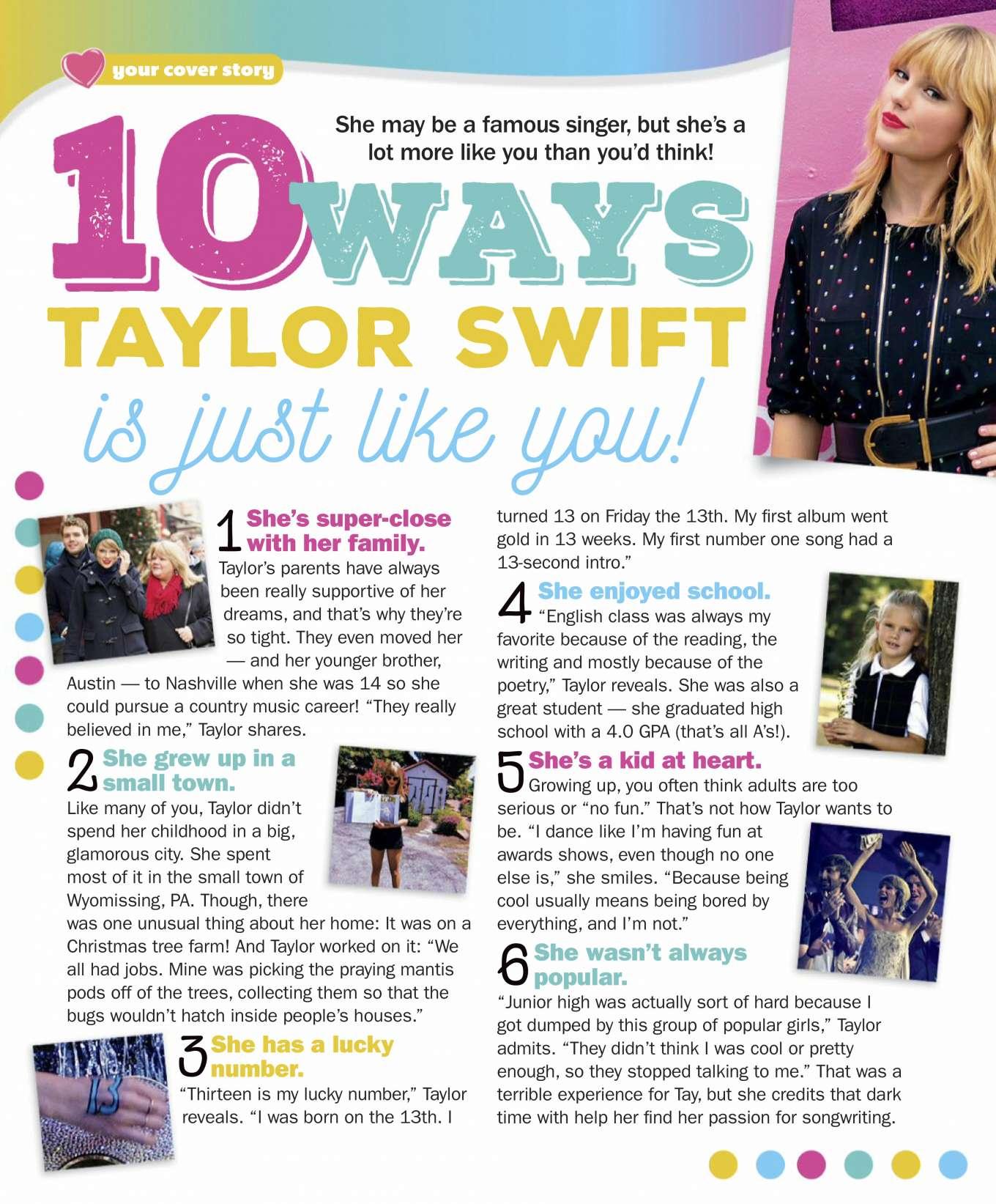 Taylor Swift 2019 : Taylor Swift – Girls World Magazine 2020-01