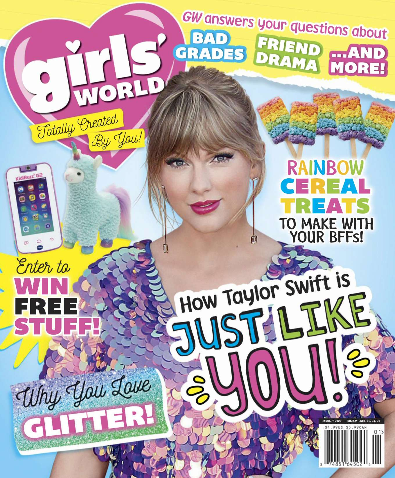 Taylor Swift - Girls' World Magazine (January 2020)