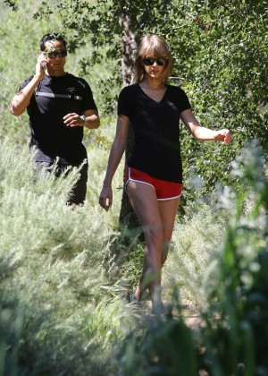Taylor Swift in Red Shorts -02