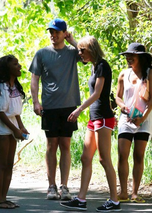 Taylor Swift in Red Shorts -06