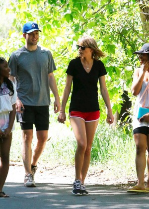 Taylor Swift in Red Shorts -08