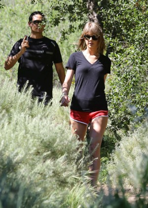 Taylor Swift in Red Shorts -09