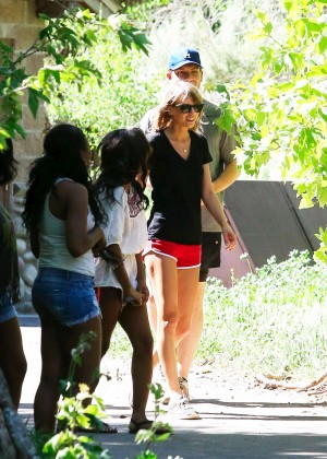 Taylor Swift in Red Shorts -19
