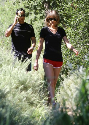 Taylor Swift in Red Shorts -21