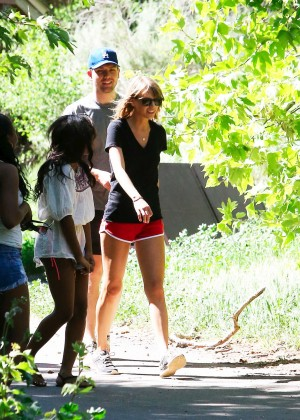 Taylor Swift in Red Shorts -22