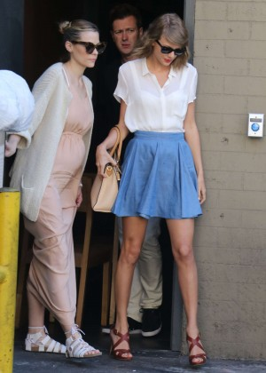 Taylor Swift & Jaime King - Leaving Sugarfish Sushi in Beverly Hills