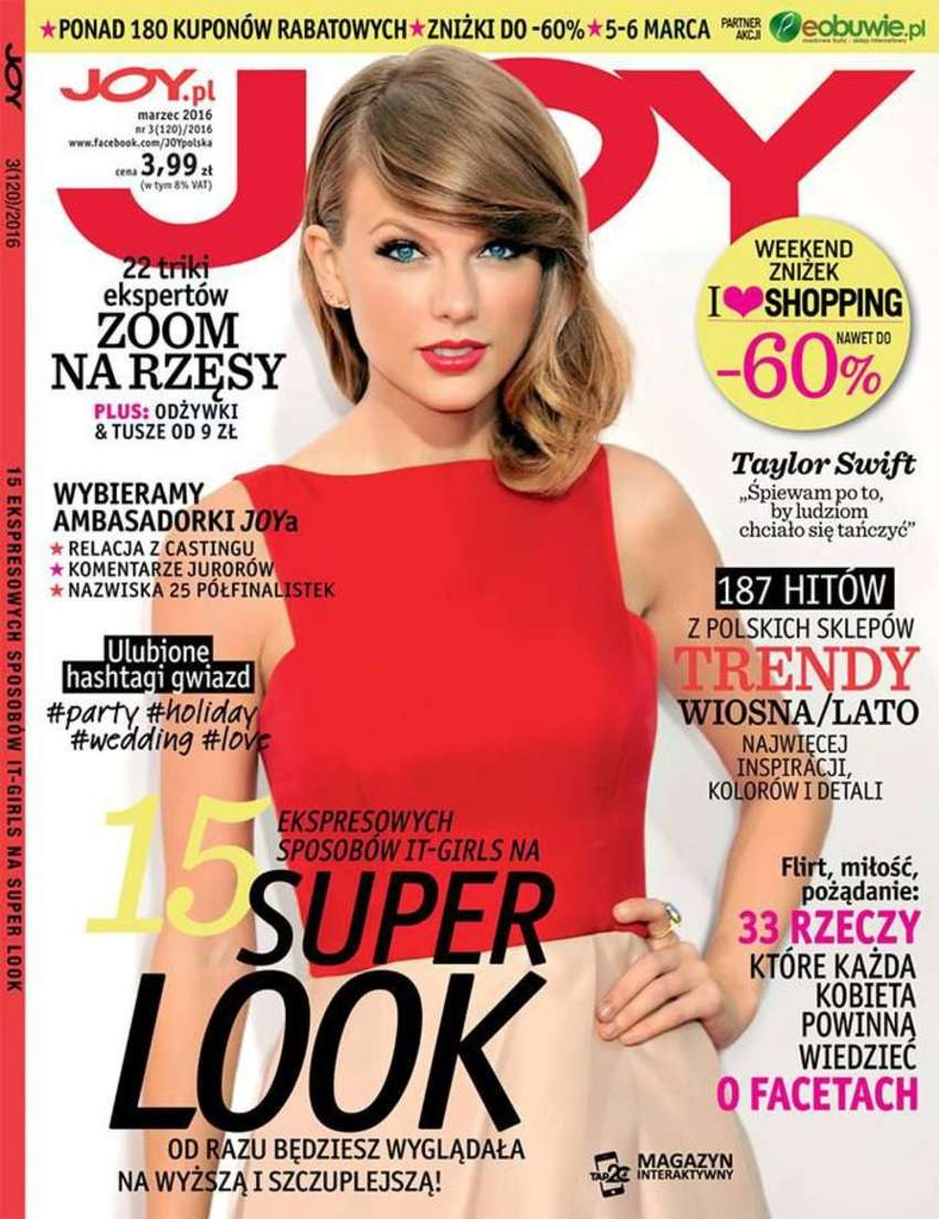 Taylor Swift - Joy Magazine Cover (March 2016)