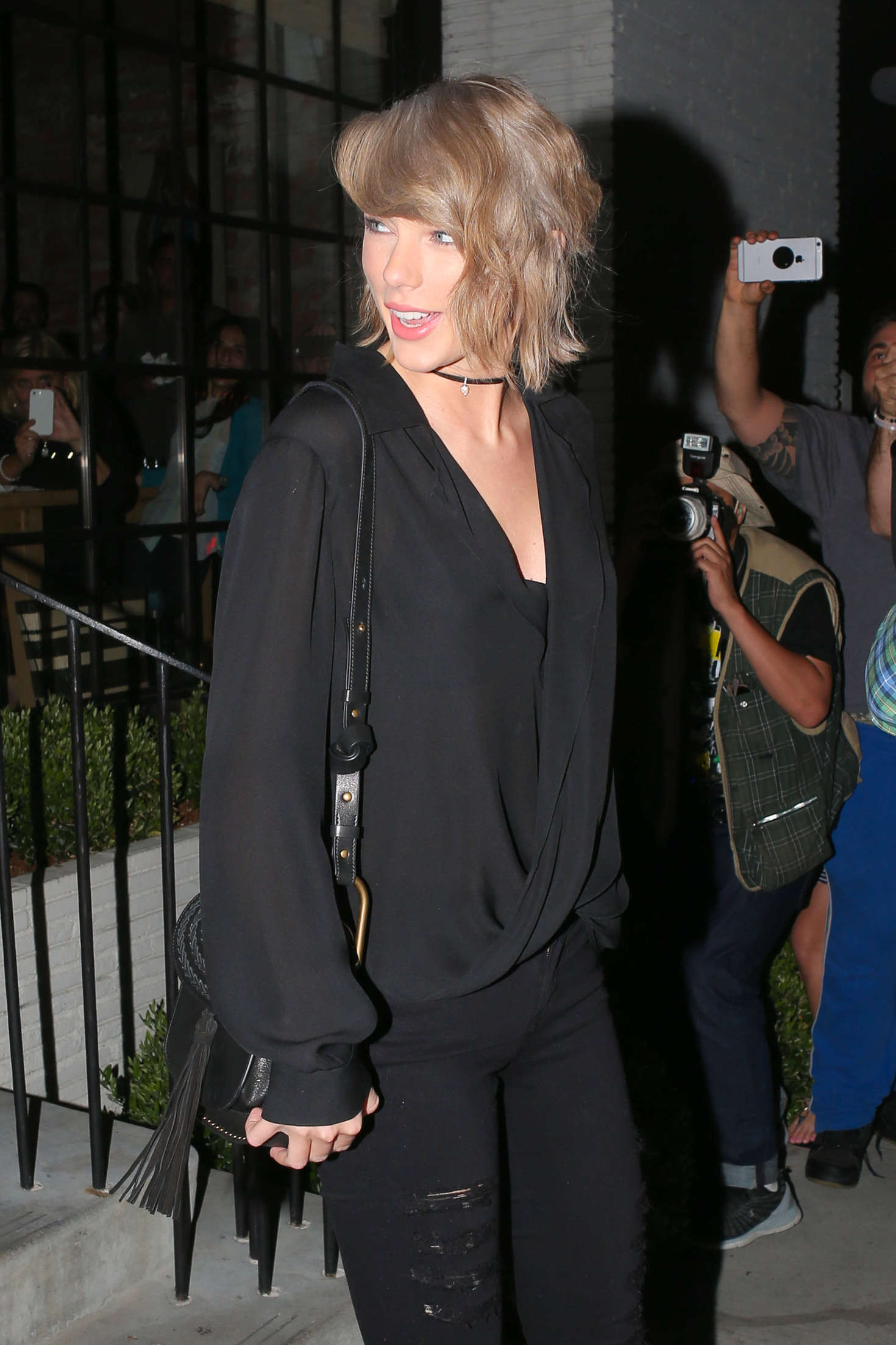 Taylor Swift - Leaving Gracias Madre in West Hollywood