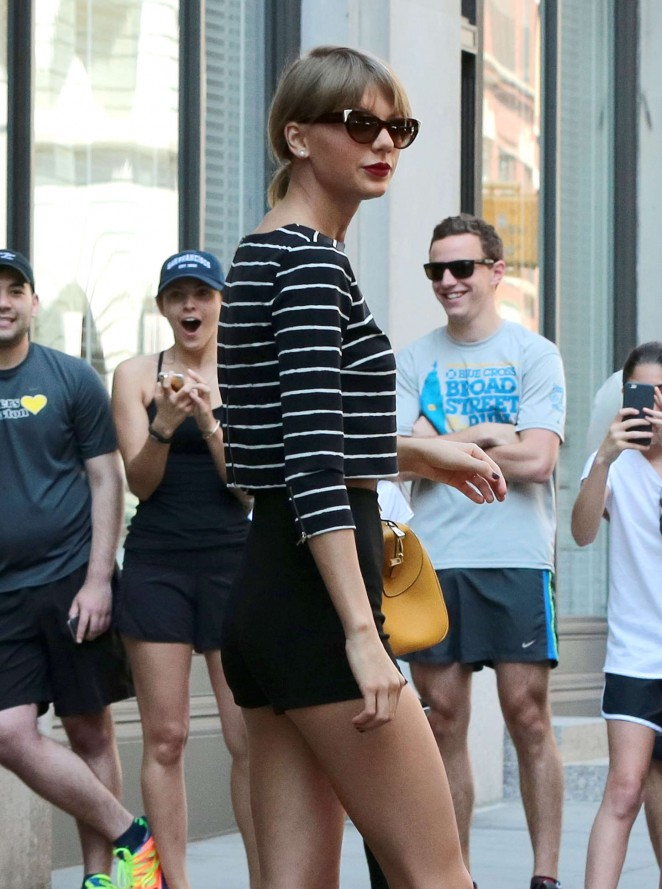 Taylor Swift in Shorts Leaving her apartment in NYC